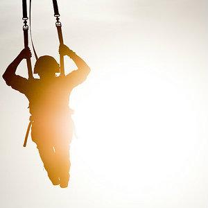 man parachuting - personal development