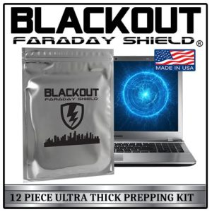 Faraday Cage EMP BLACKOUT® Bags Premium Ultra Thick 12pc Prepping Kit Laptops Tablets Smartphones Hard Drives