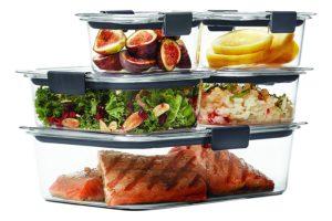 Rubbermaid Brilliance Food Storage Container, BPA-free Plastic, Mini, 0.5 Cup