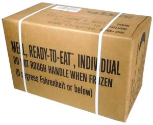 MREs (Meals Ready-to-Eat) Box B, Genuine U.S. Military Surplus, Menus 13-24
