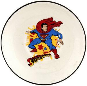 empty plate - superman plate